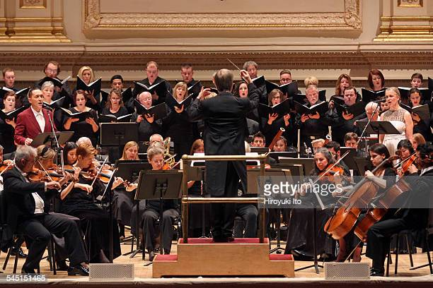 St Louis Symphony performing at Carnegie Hall on Friday night March 20 2015This imageTheo Bleckmann left and Katie Geissinger right performing...