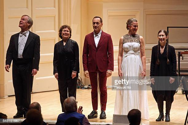 St Louis Symphony performing at Carnegie Hall on Friday night March 20 2015This imageFrom left the conductor David Robertson the choirmaster Amy...
