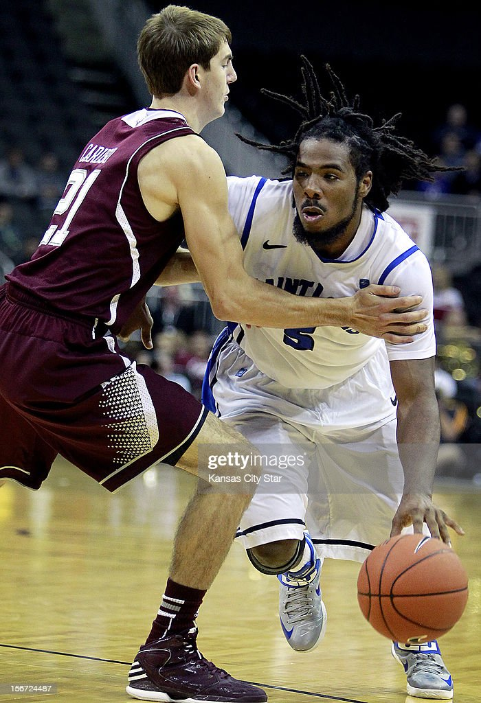 St. Louis's Jordair Jett tries to drive by Texas A&M's Alex Caruso during the second half of the CBE Hall of Fame Classic in Kansas City, Missouri on Monday, November 19, 2012.