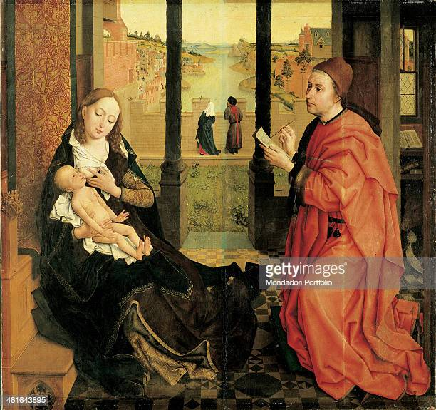 St Luke Painting the Virgin by Rogier Van der Weyden 1435 1440 15th Century oil and tempera on board5 x 1108 cm USA Boston Museum of Fine Arts Whole...
