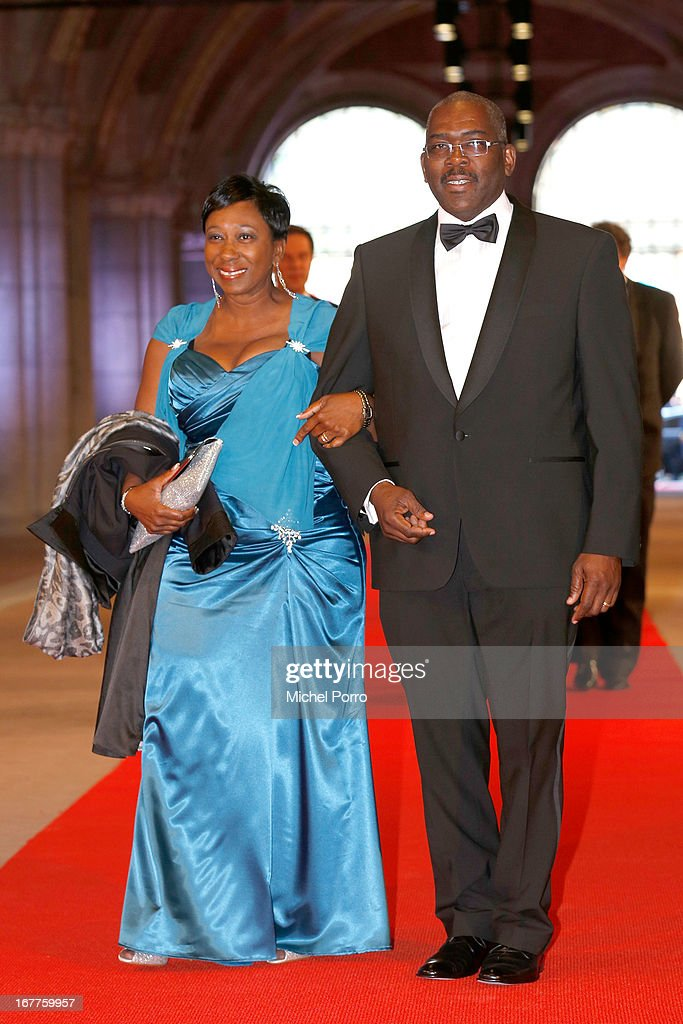 St. Maartens President of Parliament Rodolphe Samuel (R) attends a dinner hosted by Queen Beatrix of The Netherlands ahead of her abdication in favour of Crown Prince Willem Alexander at Rijksmuseum on April 29, 2013 in Amsterdam, Netherlands.
