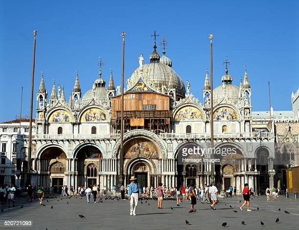 St Mark's Basilica Venice Italy The Basilica of St Mark was built in Byzantine style and modelled on two basilicas from the city of Byzantium the...
