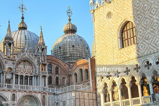 St Marks Cathedral And Doges Palace Against Clear Blue Sky