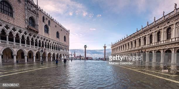 St Mark's square flooded with acqua alta, Venice
