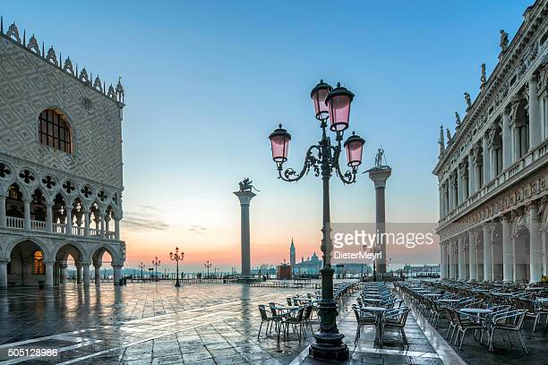 St. Mark's square in Venice during sunrise