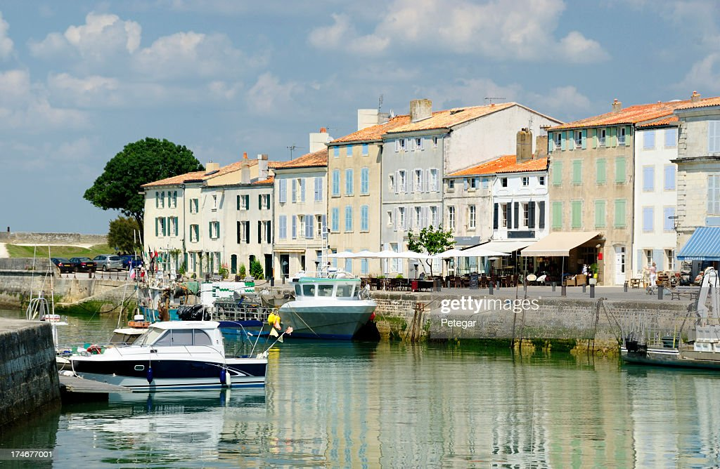 'Harbour at St Martin on the Ile De Re, France'
