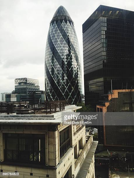 30 St Mary Axe Amidst City Buildings