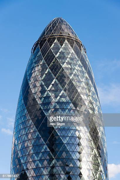 30 St Mary Axe or 'The Gherkin' skyscraper City of London UK