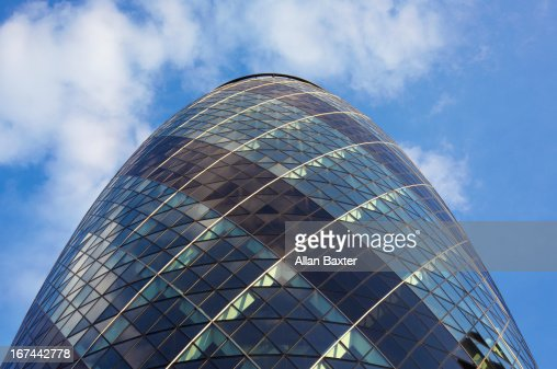 30 St Mary Axe skyscraper (The Gherkin) : Stock Photo