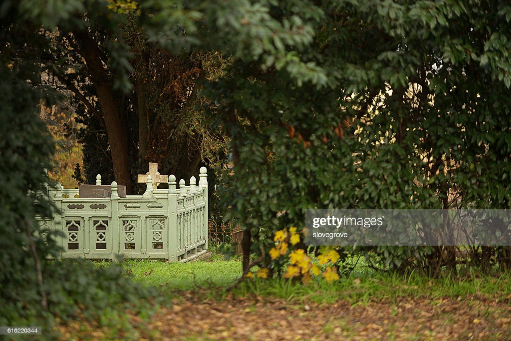 St Marys Anglican Church Cemetery : Stock Photo