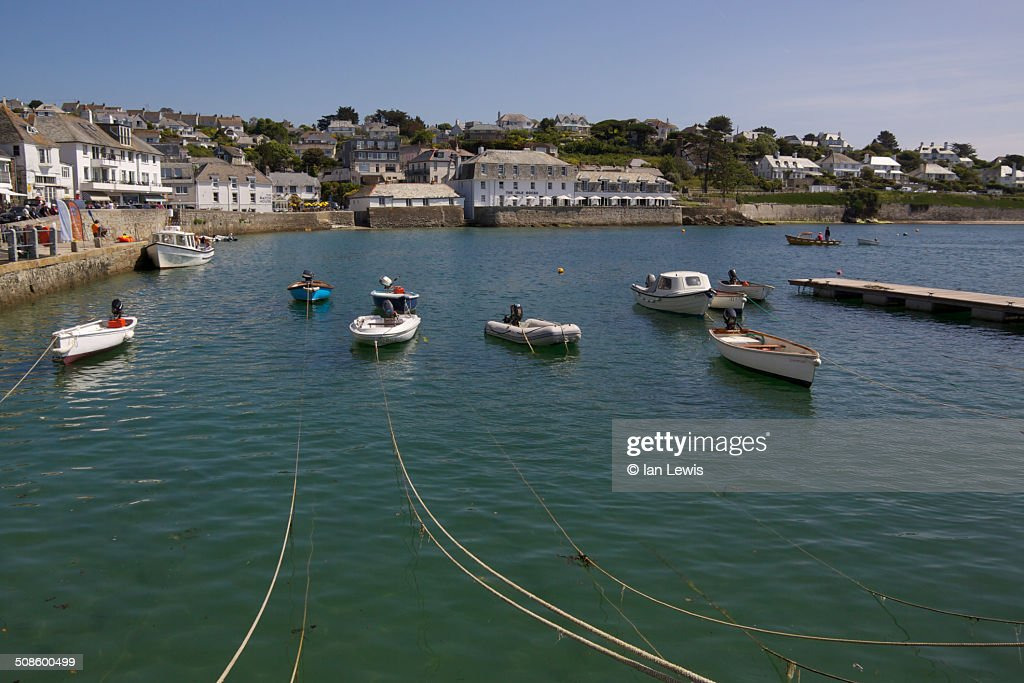 St. Mawes Harbour : Foto de stock