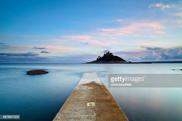 St Michael's Mount At Dawn Long Exposure
