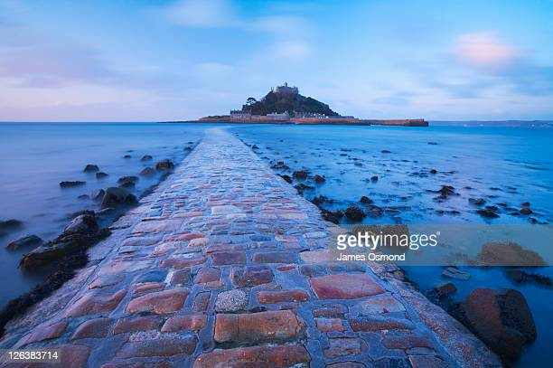 St Michael's Mount at Dawn. Marazion. Cornwall. England. UK.