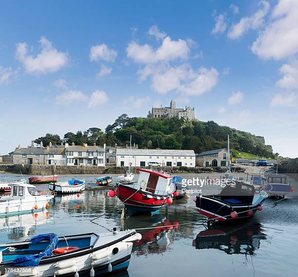 St Michael's Mount Harbour in Cornwall UK