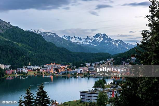 St. Moritz at dusk