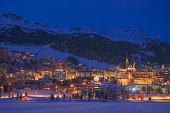 St. Moritz in winter