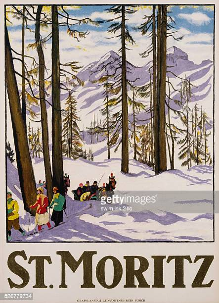 St Moritz Poster by Emil Cardinaux