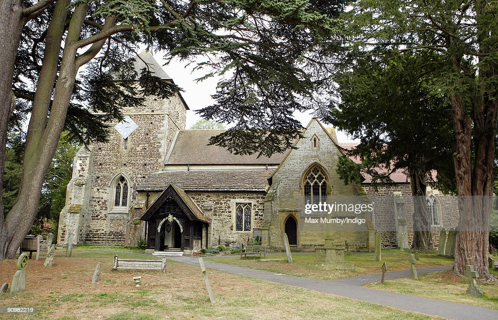 St. Nicholas Church where Eimear Montgomerie (ex-wife of golfer Colin Montgomerie) married Nick Cook on September 20, 2009 in Cranleigh, England.
