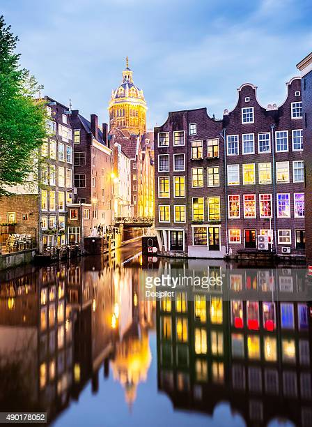 Église Saint-Nicolas et de Canal à Amsterdam, Pays-Bas-Image