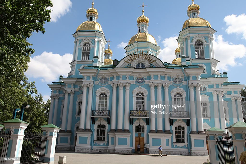 St Nicholas Naval Cathedral St Petersburg Russia 2011 The Baroque cathedral was designed by Savva Chevakinsky and built between 1753 and 1762 Its...