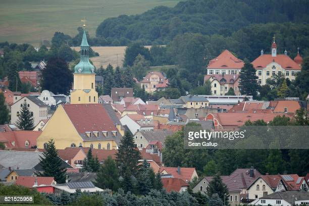St Nicolai church and Schloss Pulsnitz palace stand on July 24 2017 in Pulsnitz Germany Linda W a German teenager from Pulsnitz was captured by Iraqi...