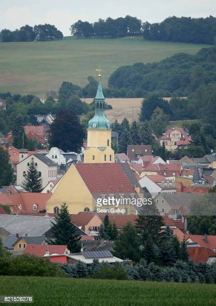 St Nicolai church stands on July 24 2017 in Pulsnitz Germany Linda W a German teenager from Pulsnitz was captured by Iraqi troops last week during...