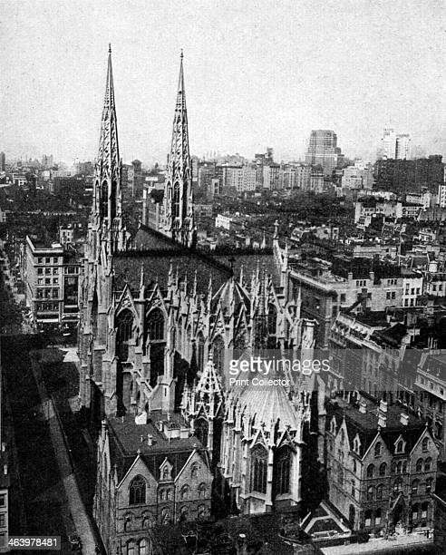 St Patrick's Cathedral New York City USA c1930s The Catholic St Patrick's Cathedral stands on 5th Avenue between 50th and 51st Streets It was built...