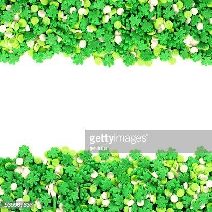 St Patricks Day candy border : Stock Photo