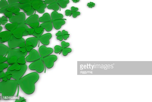St. Patrick's Day Green Clover Background