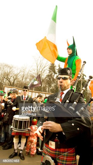 St. Patrick's day in Moscow : Foto de stock