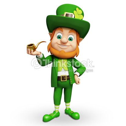 Giorno di san patrizio leprechaun con la pipa foto stock - Immagini st patrick a colori ...