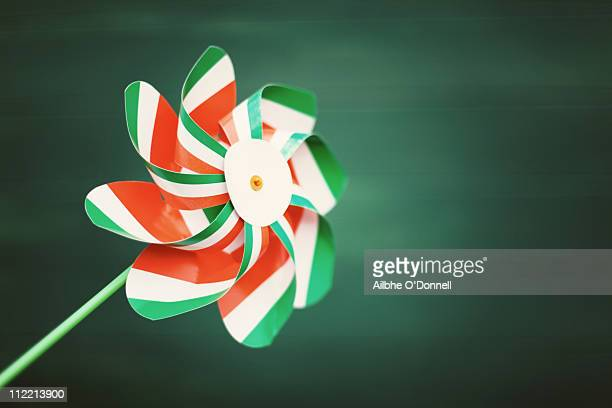 St. Patrick's Day toy windmill, Irish flag colours