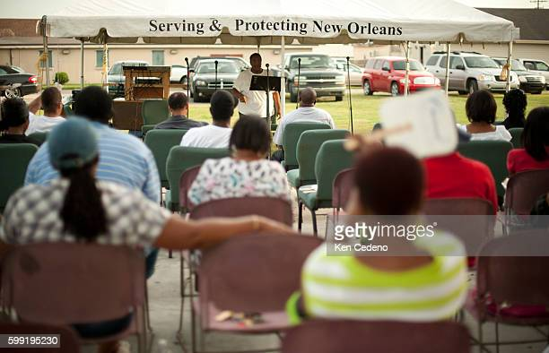 St Paul Church of God in Christ holds a tent revival in the lower 9th ward of New Orleans July 15 2010 Five years after historical hurricane Katrina...