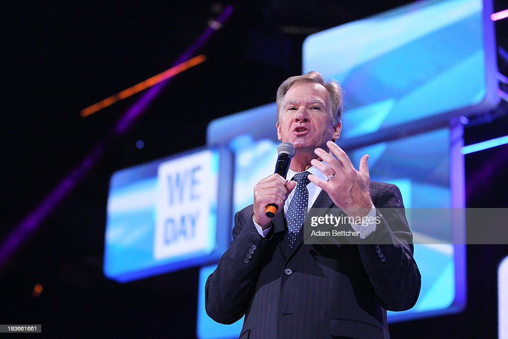 St. Paul Mayor Chris Coleman speaks during the We Day Minnesota event at the Xcel Energy Center in St. Paul, Minnesota on October 8, 2013