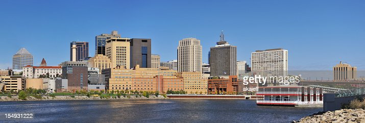 St Paul Minnesota downtown panorama