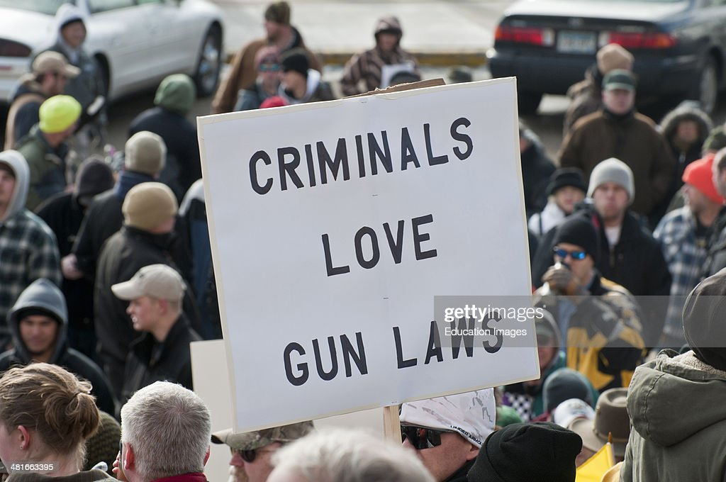 St Paul, Minnesota, State capitol Gun limits protest People opposed to newly proposed local and federal gun control legislation gather at the State Capitol to protest any further restrictions on firearms.