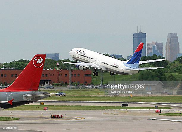 A Delta Airlines jet takes off at Minneapolis/St Paul International Airport 30 May 2006 in StPaul MN Bankrupt carrier Delta Air Lines on 19 December...