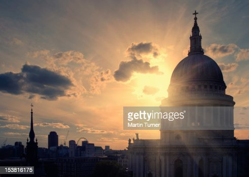 St Pauls at sunset