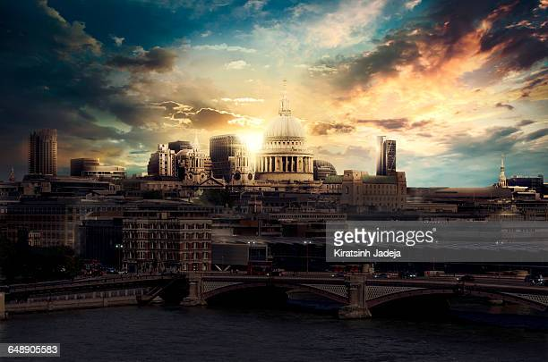 St Paul's Cathedral And Central London At Sunrise