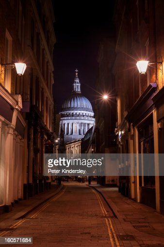 St Paul's Cathedral at night : Stock-Foto