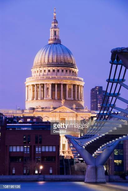 St Pauls Cathedral at Sunset in London UK