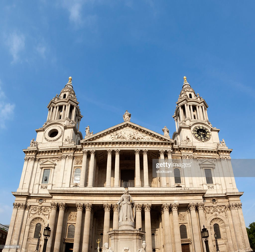 St. Paul's Cathedral facade, London : Stock Photo