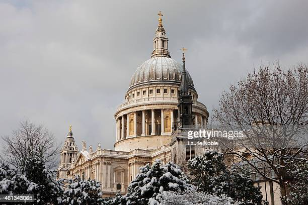 St Paul's Cathedral in the snow, London