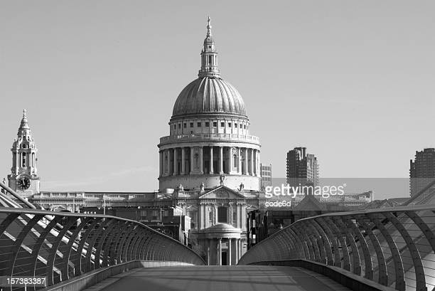 St Paul's Cathedral, London, black and white, copy space