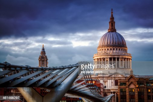 St Paul's Cathedral, Millennium Bridge, London