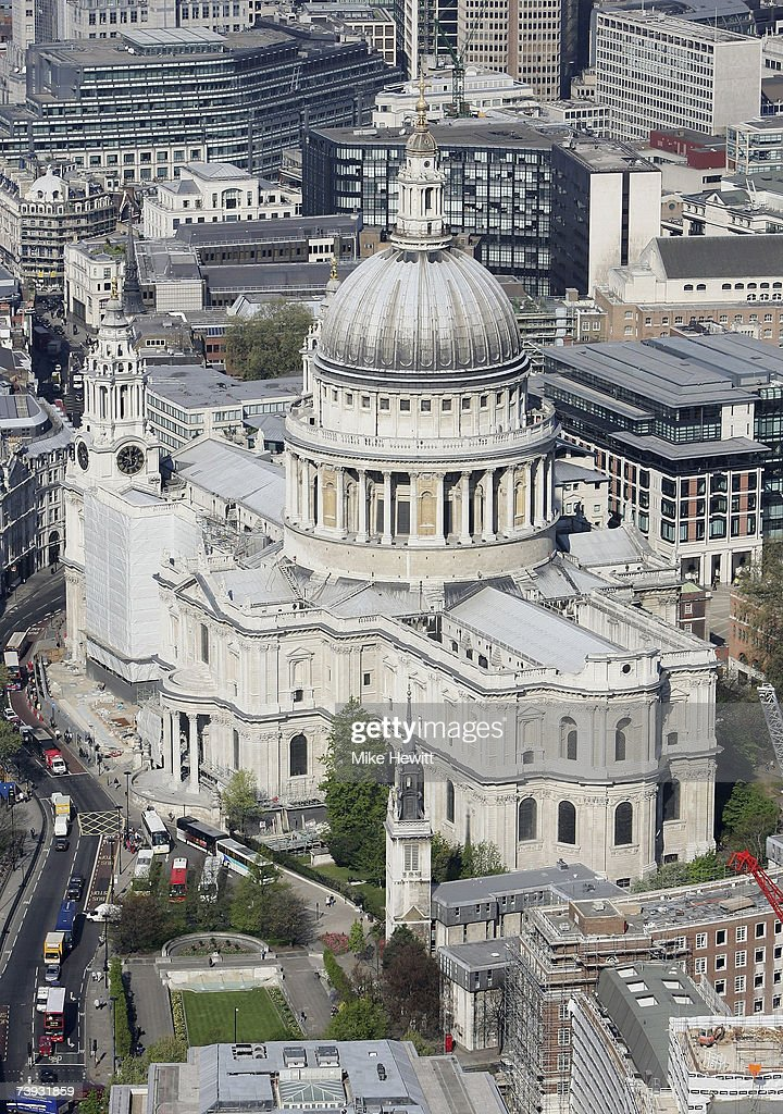 St Paul's Cathedral on April 20, 2007 in the city of London, England.