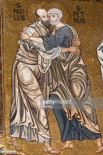 St Peter and St Paul mosaic Cappella Palatina Palazzo dei Normanni Palermo Sicily Italy