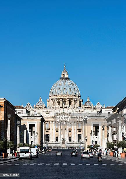St Peter's Basilica as seen from the Via della Conciliazione