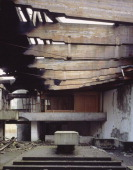 St Peters Seminary Cadross United Kingdom Architect Gillespie Kidd Coia St Peters Seminary Altar With Radiating Roof Beams