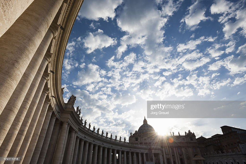 St. Peter's Square at sunset